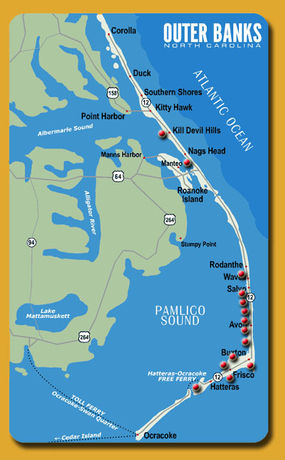 Outer Banks Islands Map